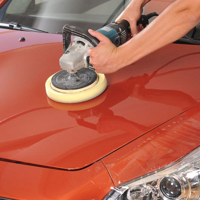Waxing car