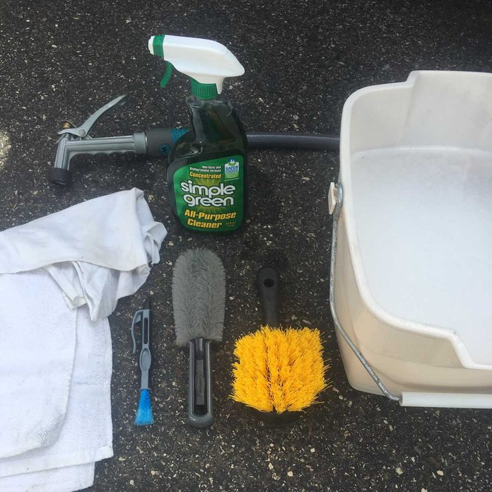 Tire cleaning supplies