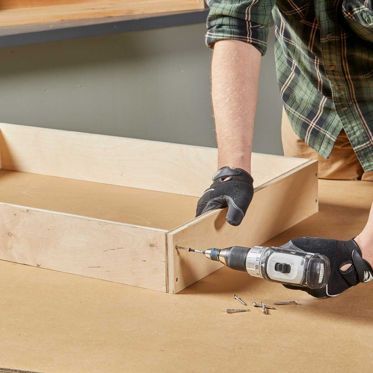 Assemble the drawer box