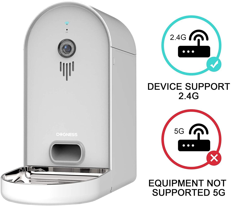 DOGNESS Automatic WiFi Dog/Cat Smart Camera Feeder