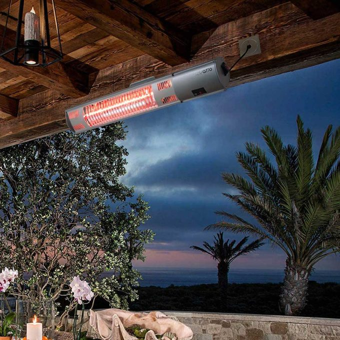 Patio Heater - Outdoor Heater w/3s-Fast Heating & Remote Control, Electric Patio Heater