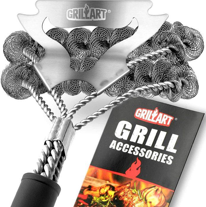 Grill Brush Bristle Free and Scraper