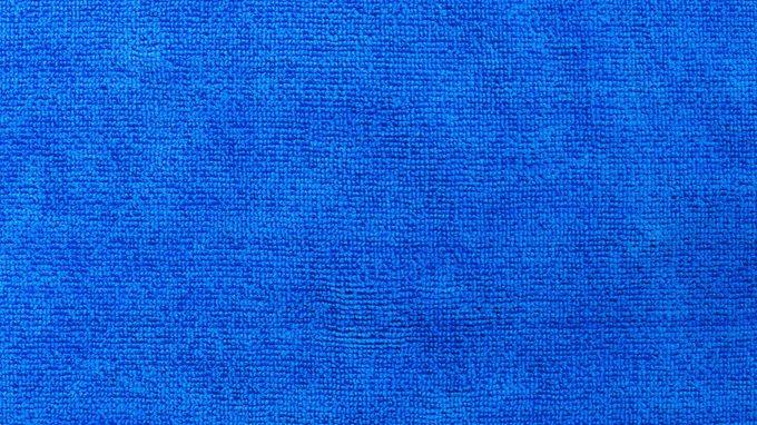 close up of blue microfiber texture