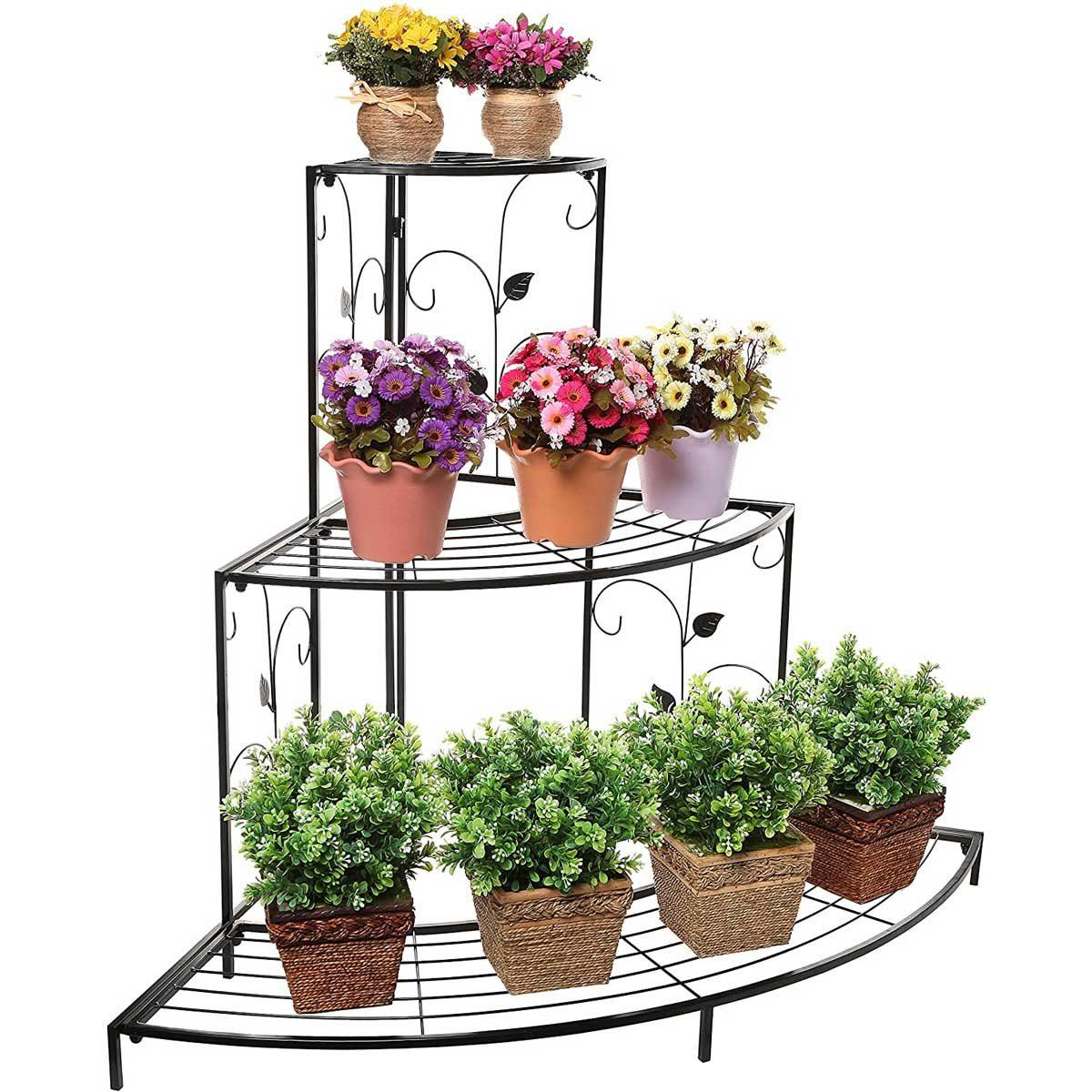 Corner plant stand