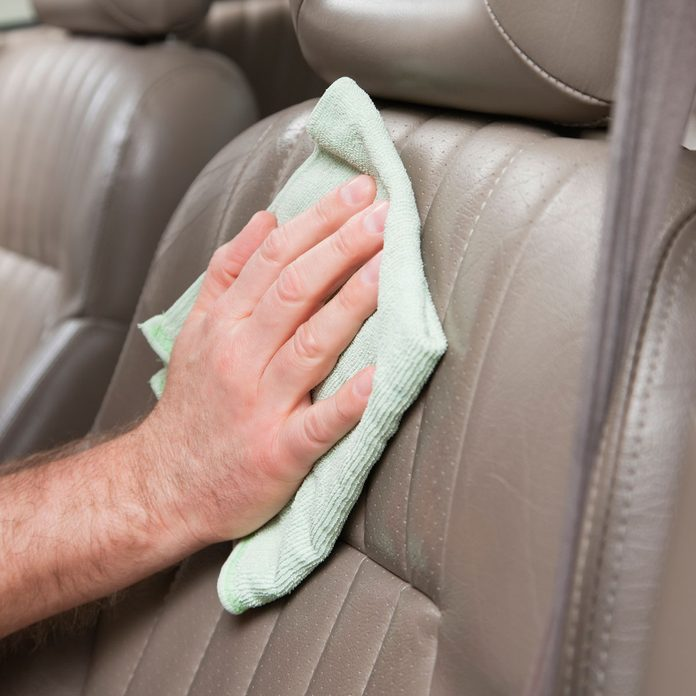 Cleaning leather seats