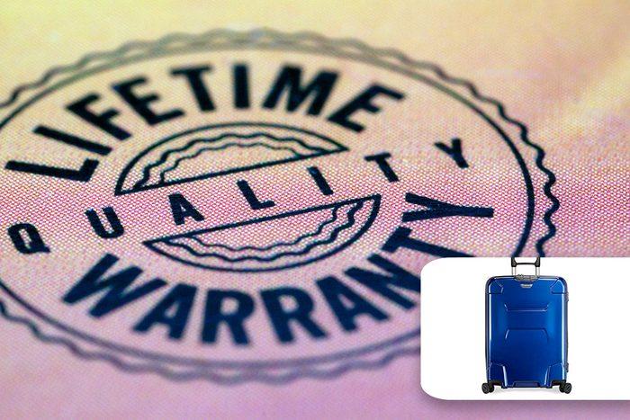 lifetime warranty suitcase luggage buy used