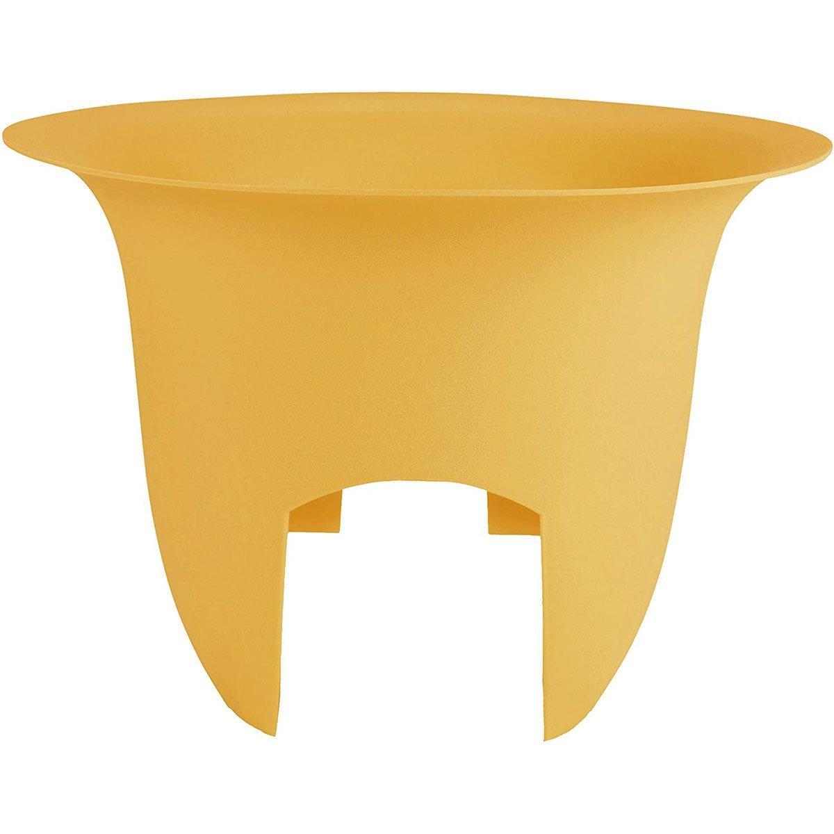 Yellow railing pot
