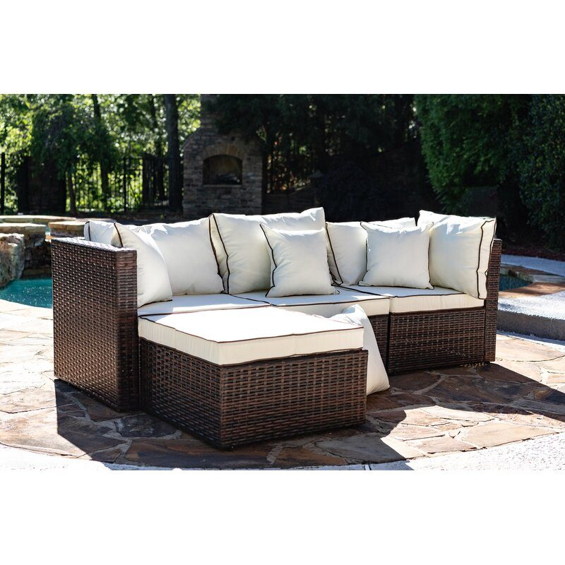 outdoor Patio Sectional with Cushions