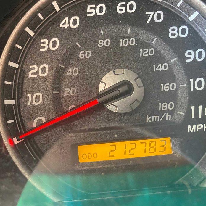 Set Odometer to Display Mileage