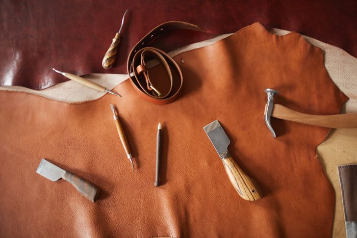 Leather Craft Tools Flat Lay