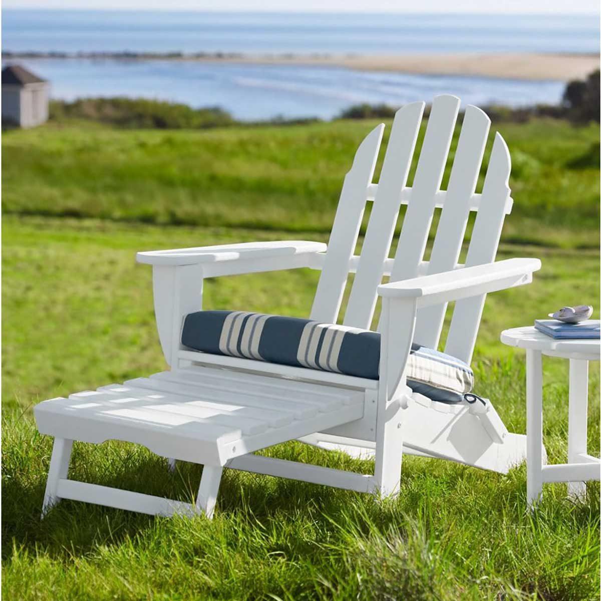 White Adirondack chair