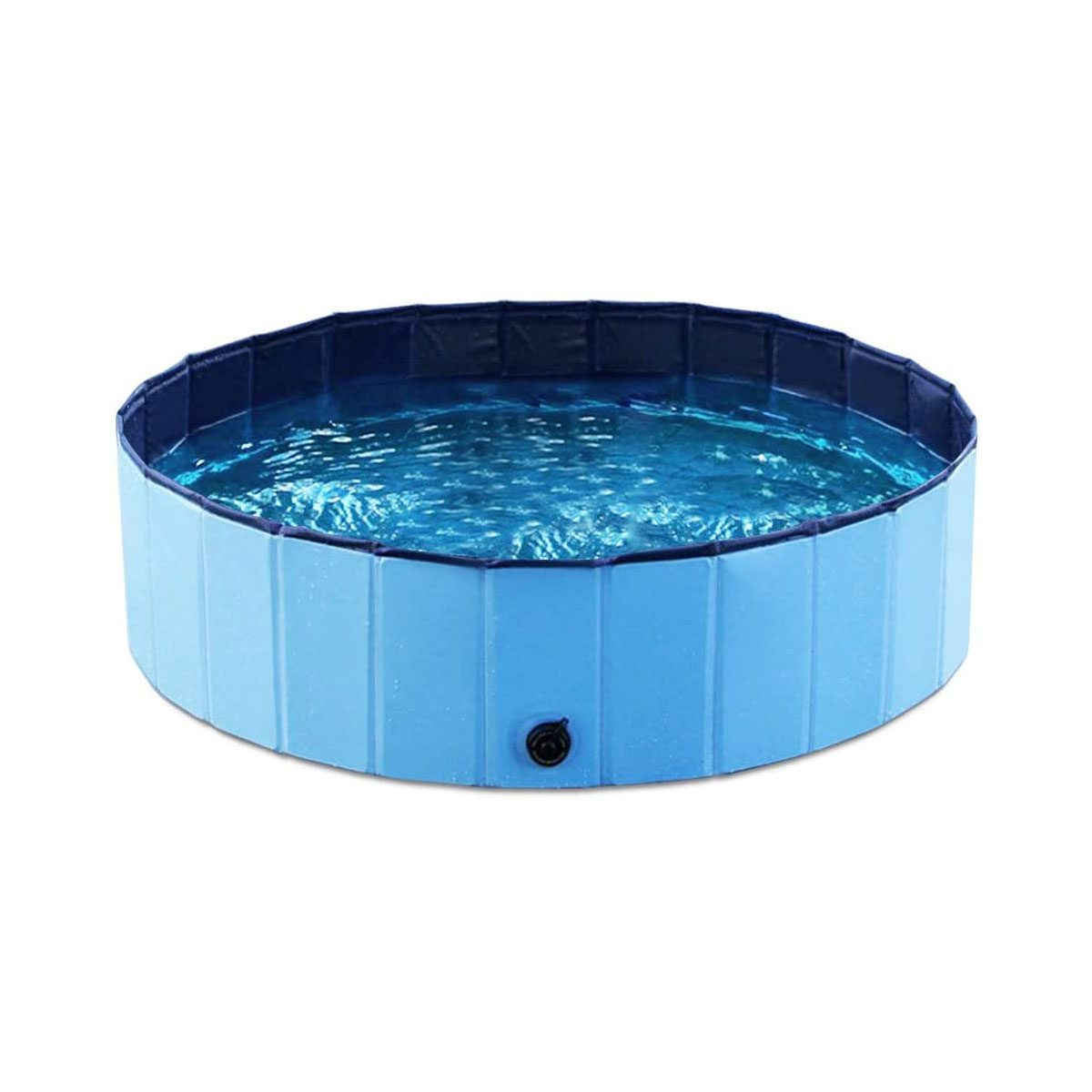 Blue kiddie pool