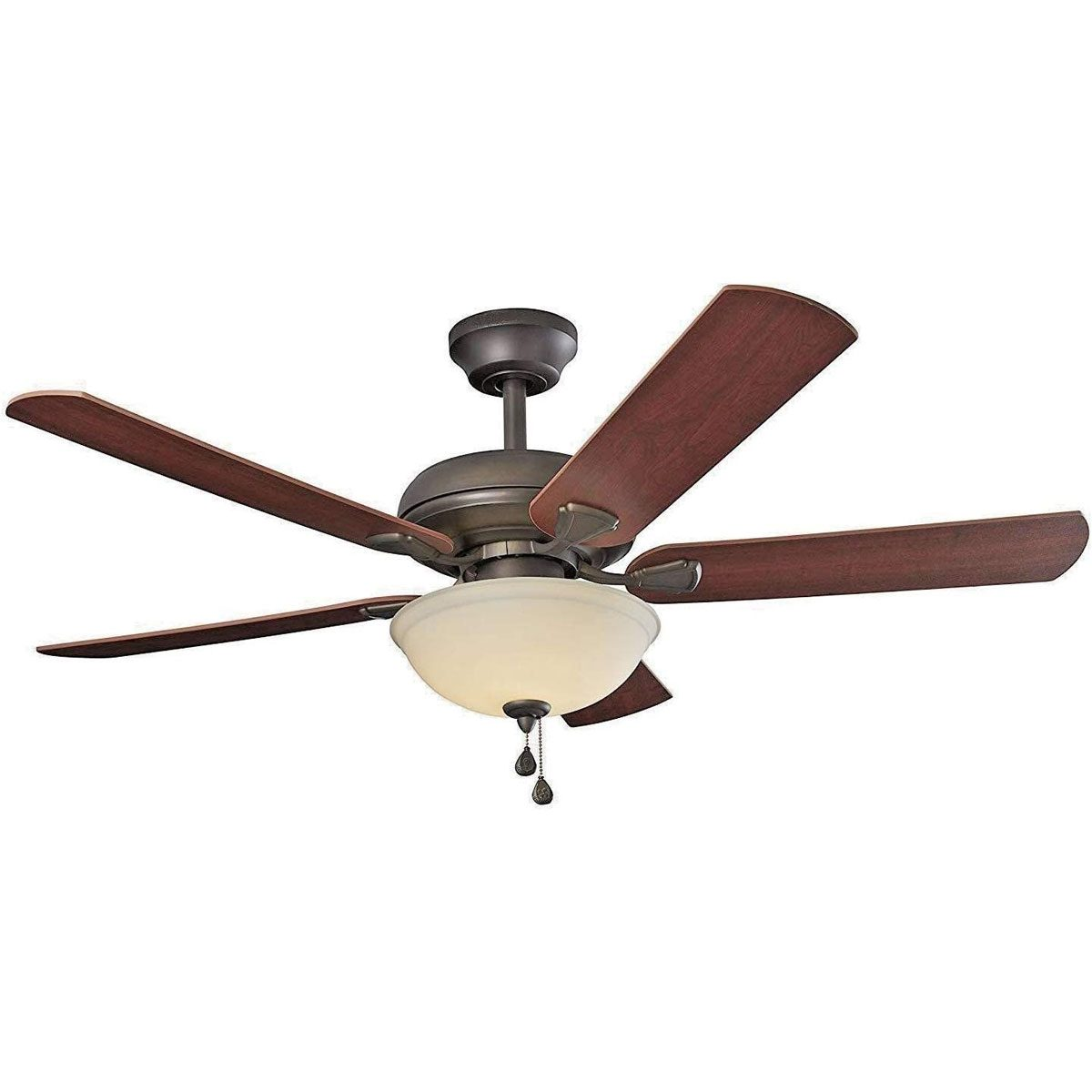 Ceiling fan with a light