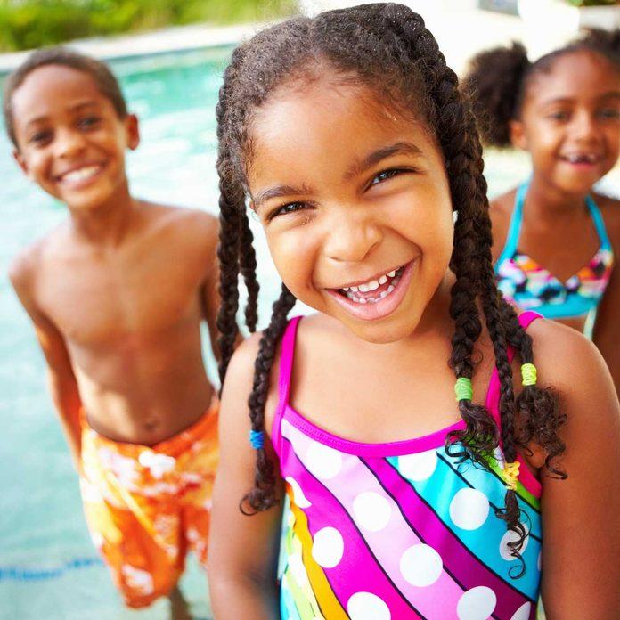 Kids enjoying a pool
