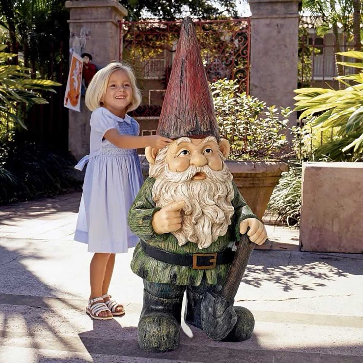 Large garden gnome