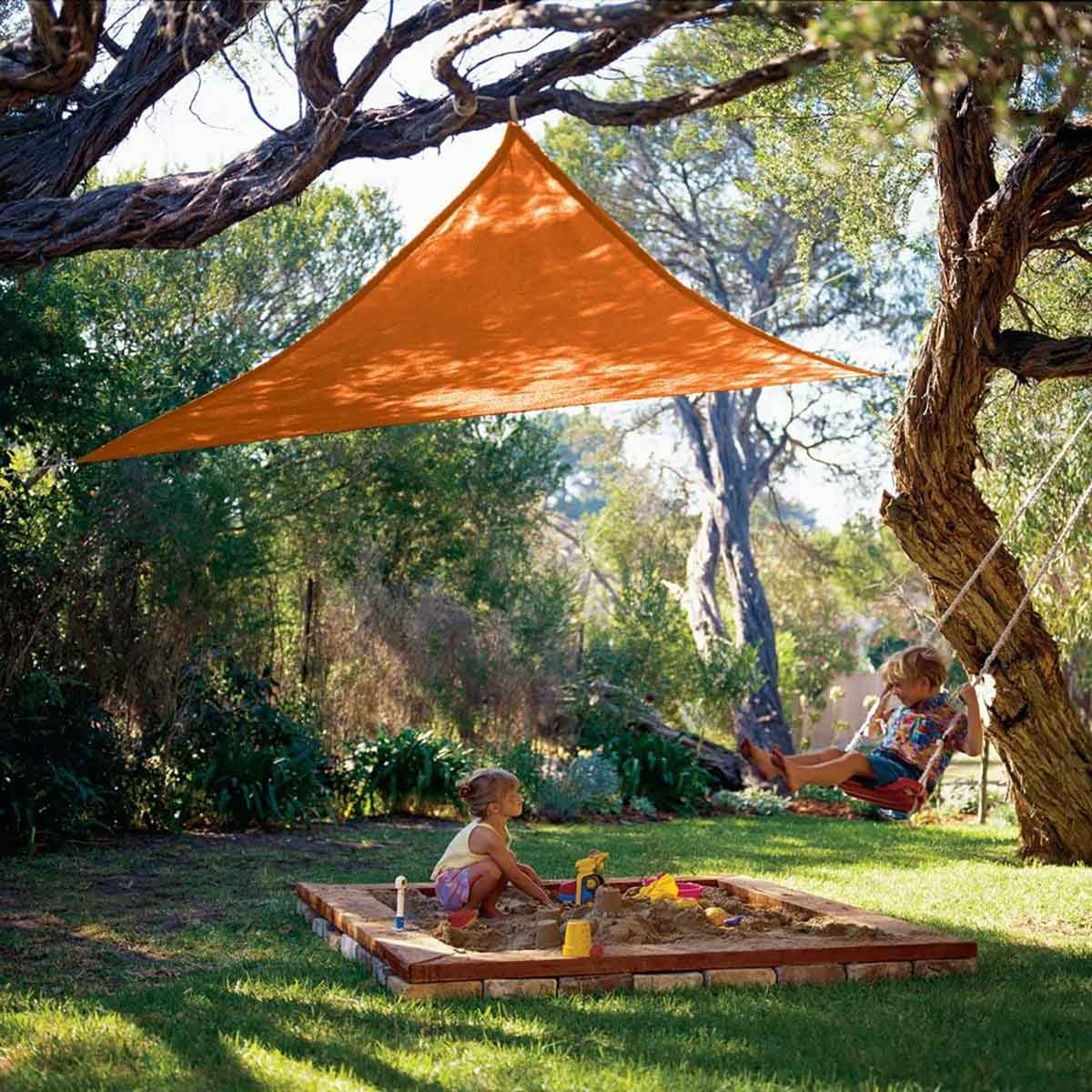Orange shade sail