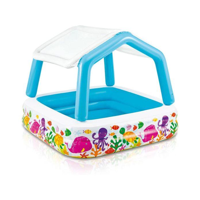 Shaded kiddie pool