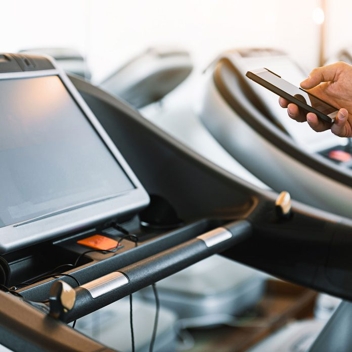 Smart treadmill screen