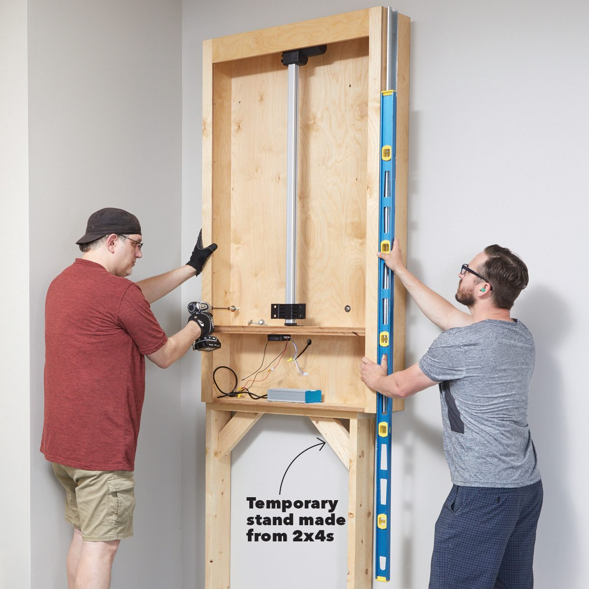 Hanging the cabinet