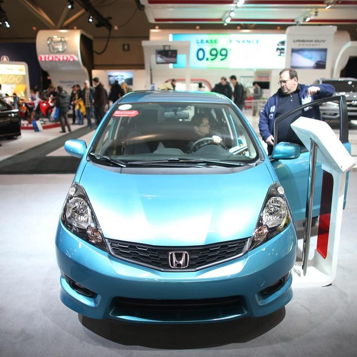 2017 Honda Fit with crowd at the Canadian International Auto Show