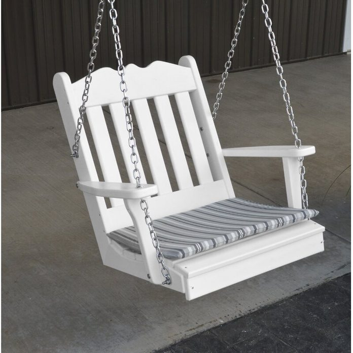 Single seat porch swing