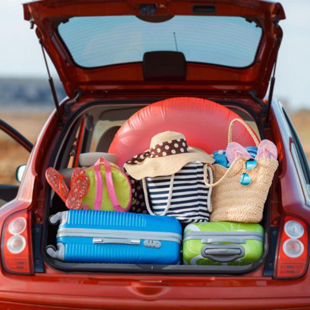 car trunk full
