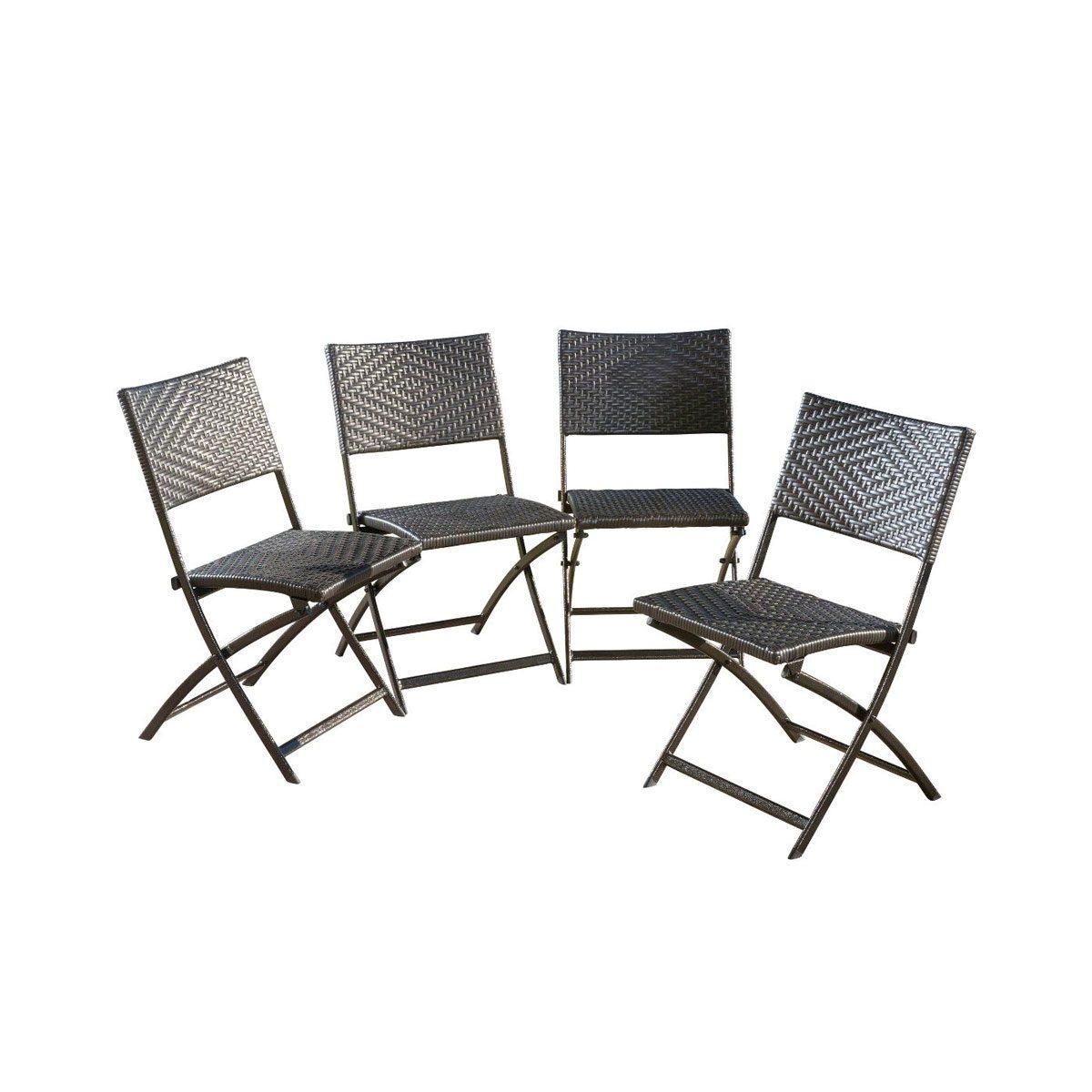 Wicker folding chairs