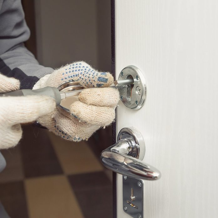 Locksmith Repairing Door Lock