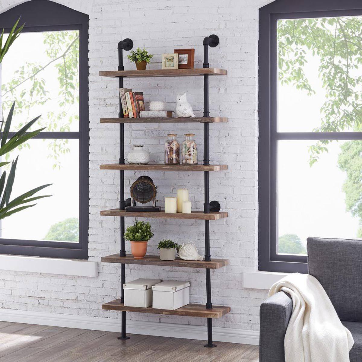 industrial wall shelf