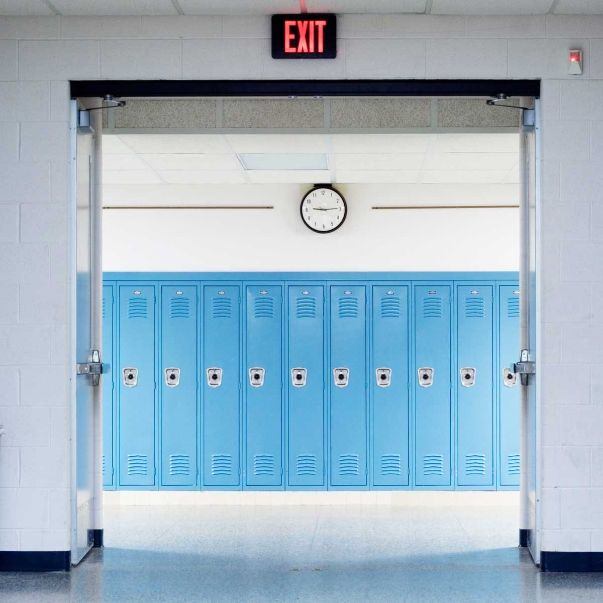 Blue lockers
