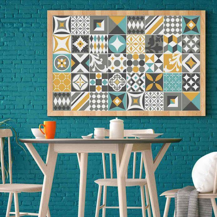 Bright mosaic tile