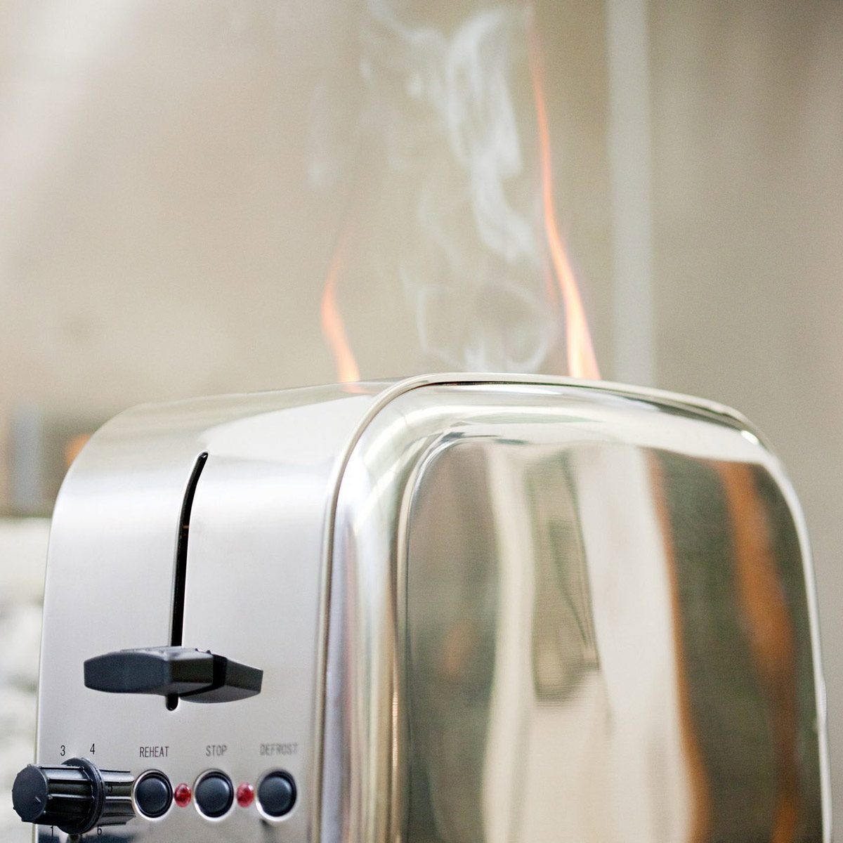 Toaster on fire