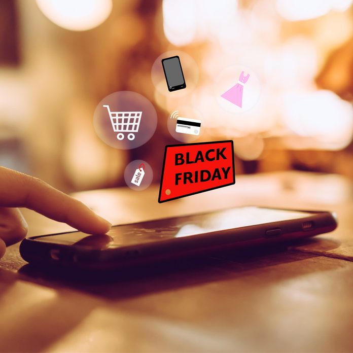 black friday shopping on smartphone