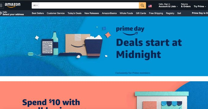 amazon homepage