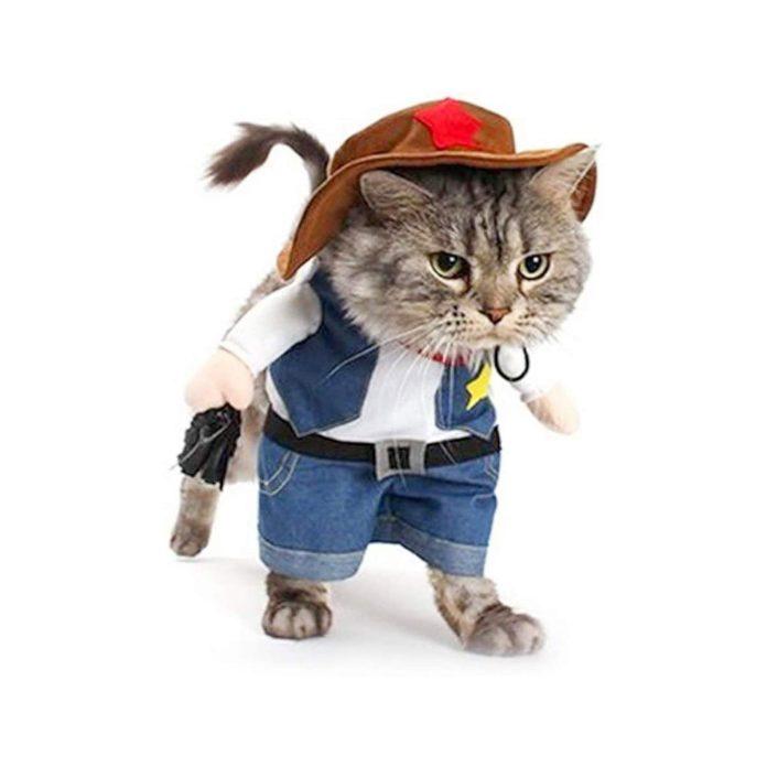 Sheriff cat costume