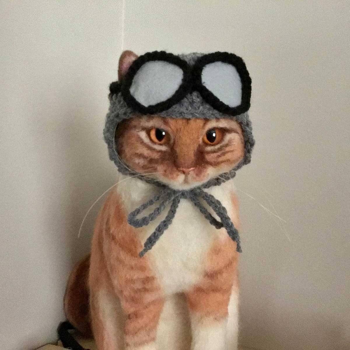 Pilot cat costume