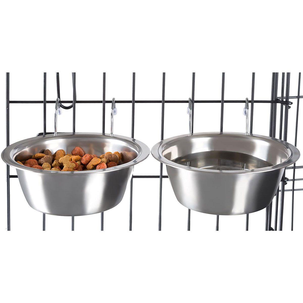 Dog crate bowls