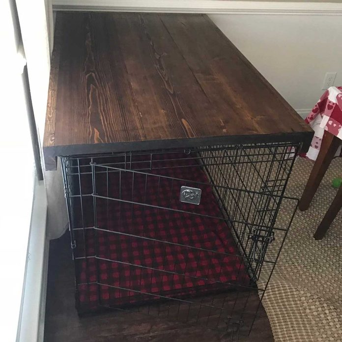 Dog crate table