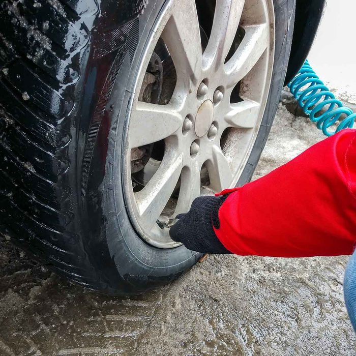 Filling Tire in Winter Gettyimages 1130455980