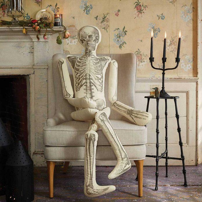 Skeleton pillow