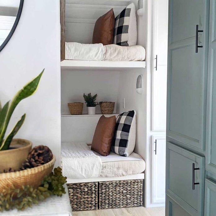 Tiny home bunk beds