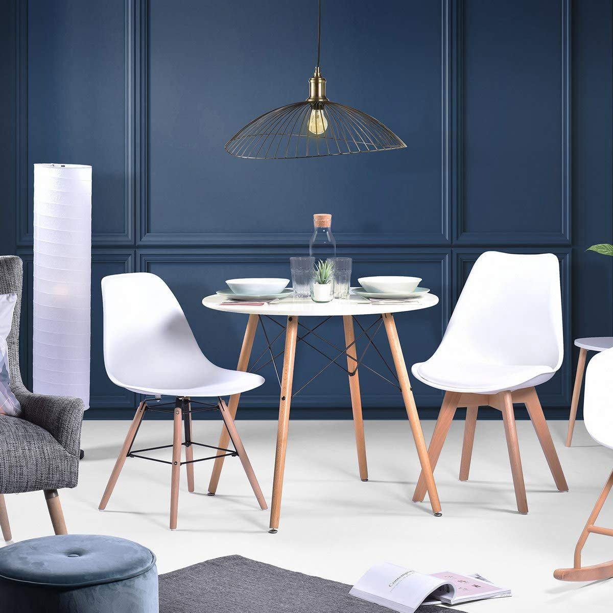 white modern dining table