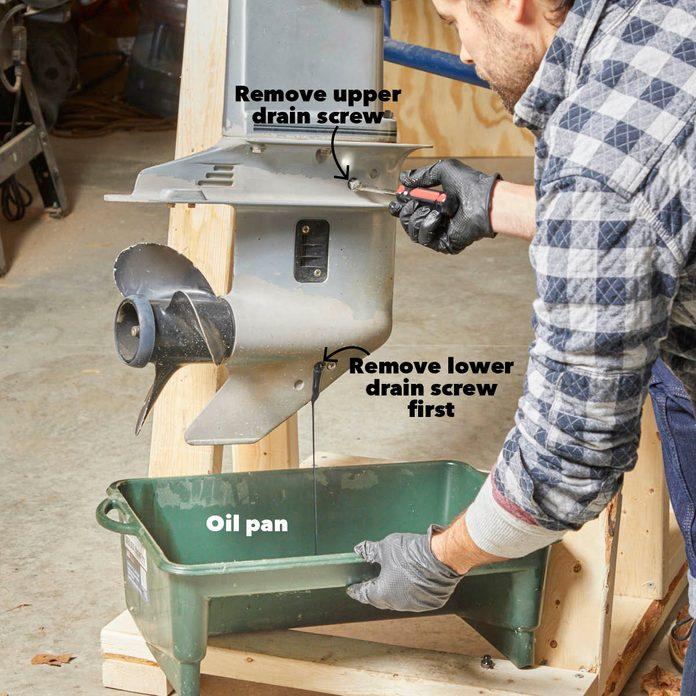 Drain the Lower End Gear Oil