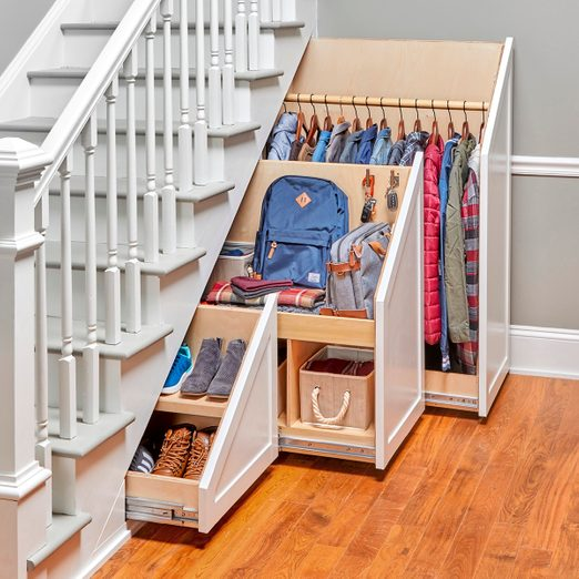 under stairs storage