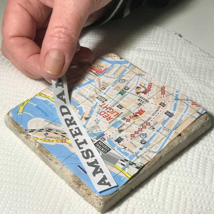 gluing name on map tile