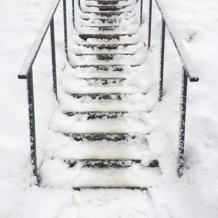 Icy stairs