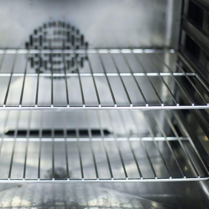 Inside of oven