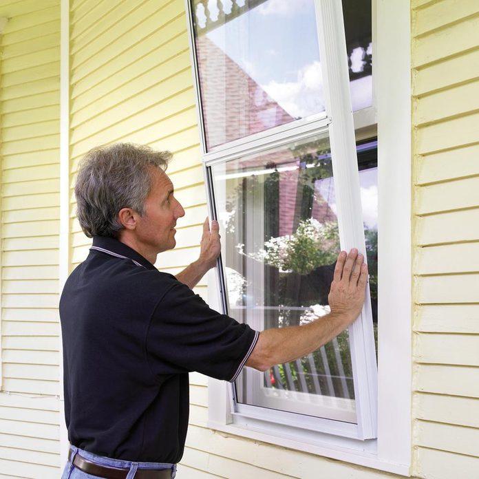 storm window install