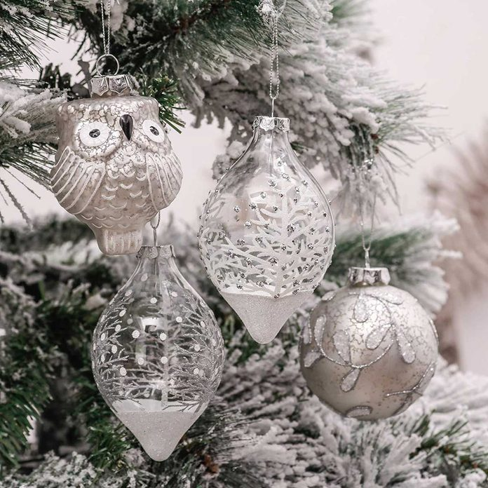 White ornaments