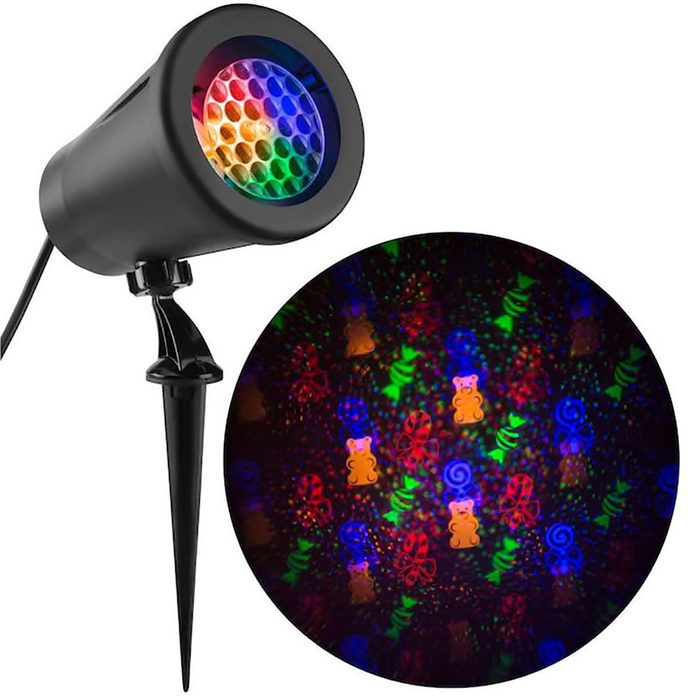 LED holiday light projector